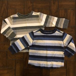 GAP Long Sleeve Striped Thermals LOT